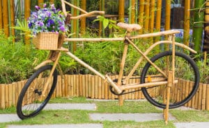 Bicycle ready to ride, made of bamboo